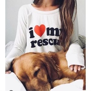Chaser I Love My Rescue Sweater